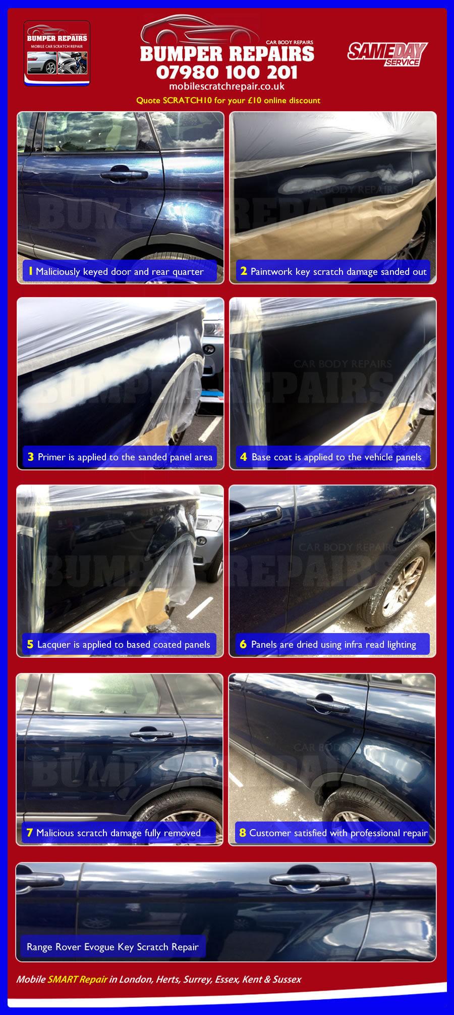car scratch repair example